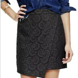 Madewell • Black Lace Asymmetrical Skirt